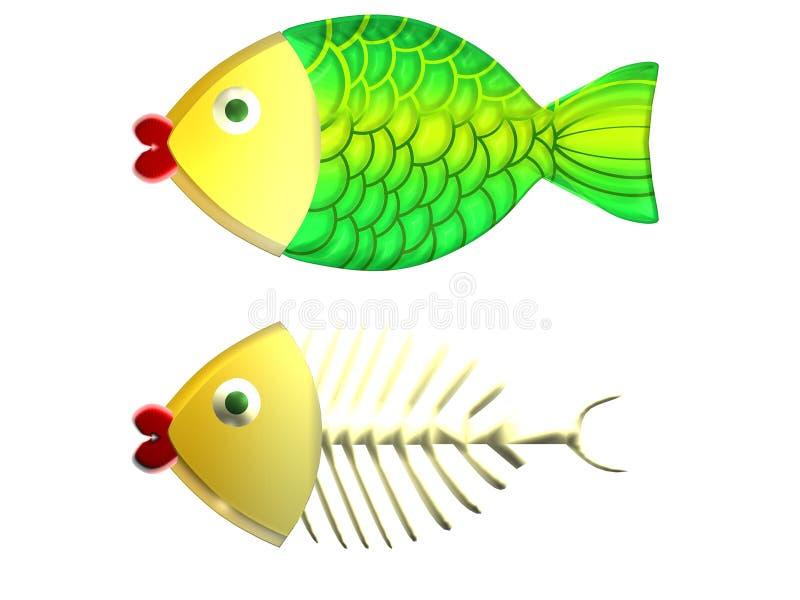 Xmas fish royalty free stock photography