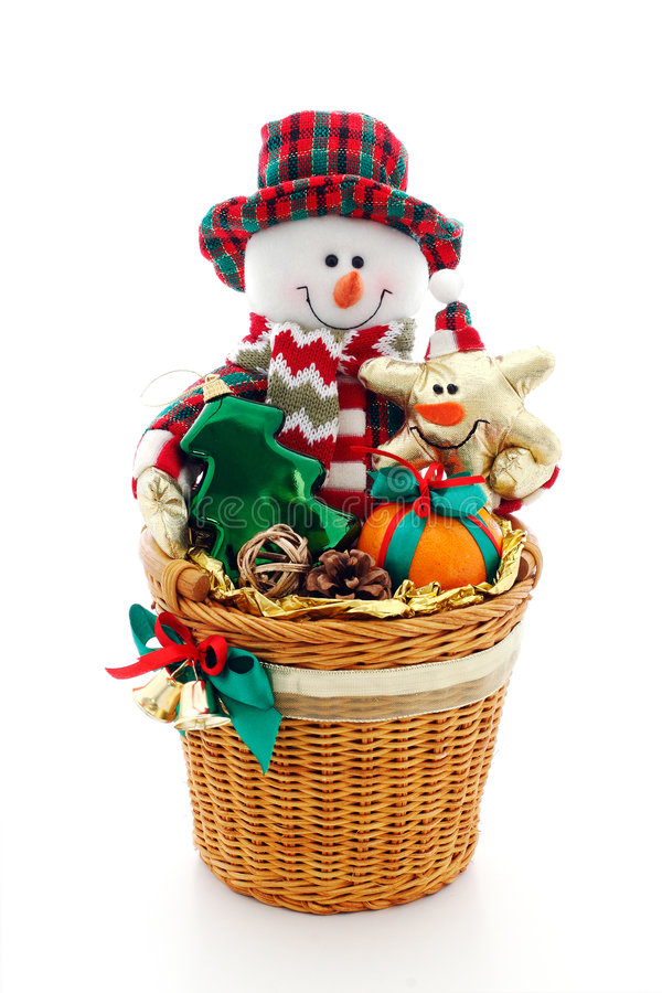 Xmas gift. With snowman toy royalty free stock photos