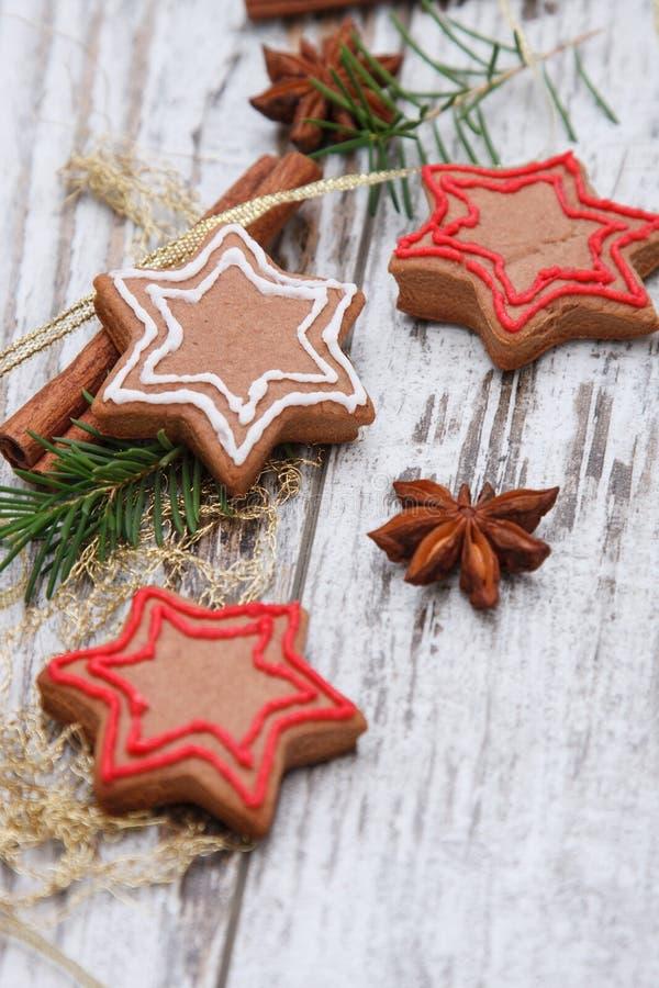 Xmas gingerbread cookies royalty free stock image