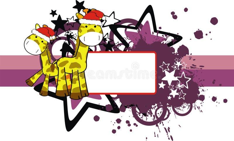 Xmas Giraffe Copyspace Stock Photo