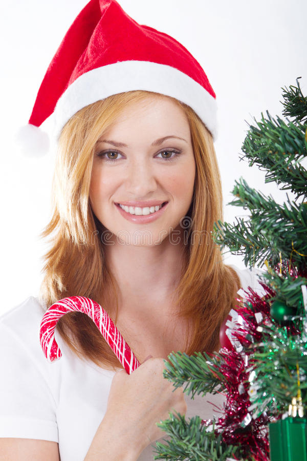 Download Xmas girl stock image. Image of female, claus, adult - 16667227