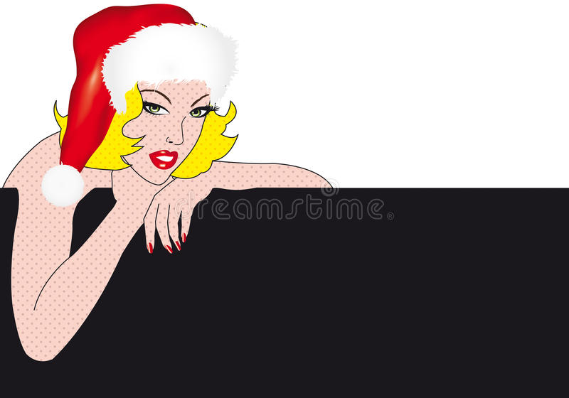 Download Xmas girl stock illustration. Illustration of head, isolated - 20479277