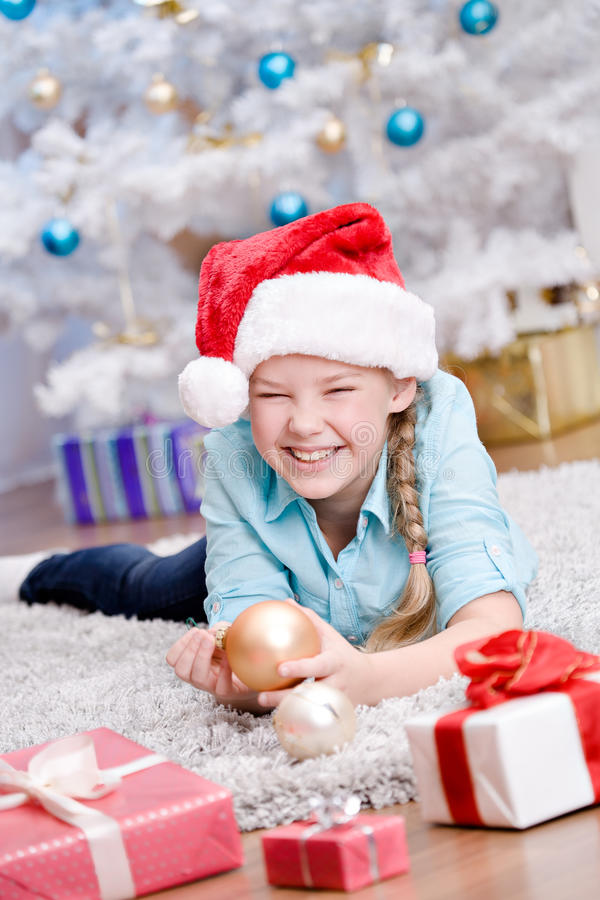 Download Xmas girl stock image. Image of interior, room, smiling - 27687615