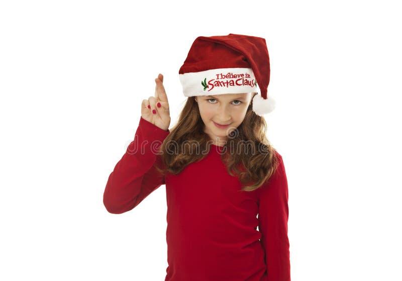 Download Xmas girl, wishing stock image. Image of good, copy, santa - 27844895