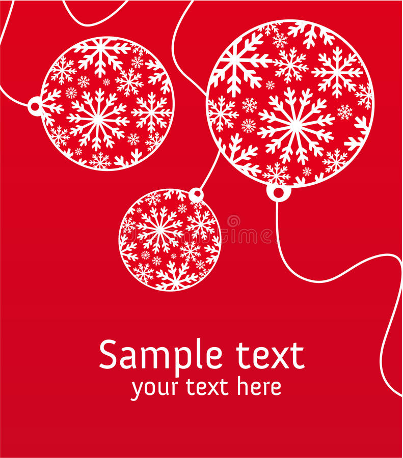 Download Xmas greeting card stock vector. Image of lines, christmas - 15485111