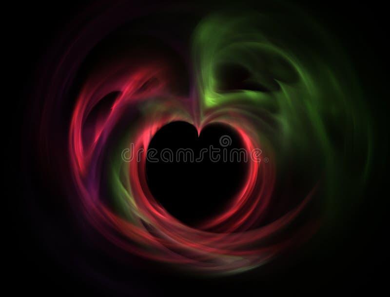 Xmas heart royalty free stock photography