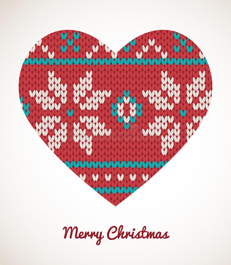 Download Xmas Heart Ornaments - Seamless Knitted Background Stock Vector - Image: 33524414