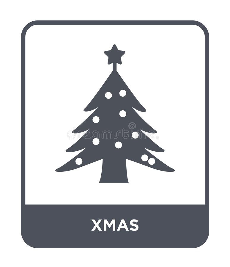 Xmas icon in trendy design style. xmas icon isolated on white background. xmas vector icon simple and modern flat symbol for web. Site, mobile, logo, app, UI vector illustration