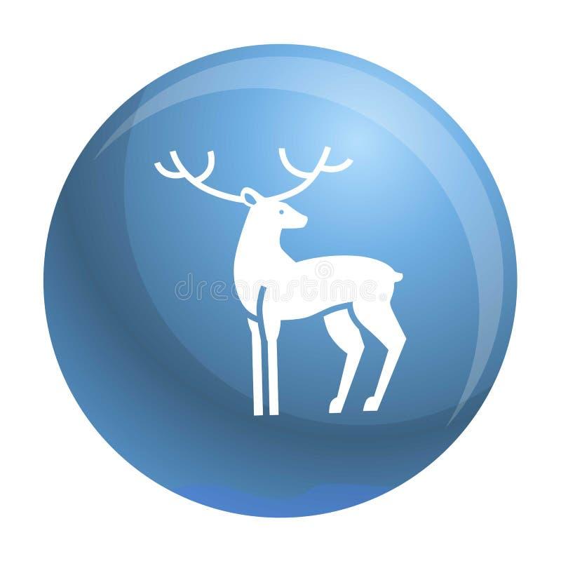 Xmas jelenia ikona, prosty styl ilustracji