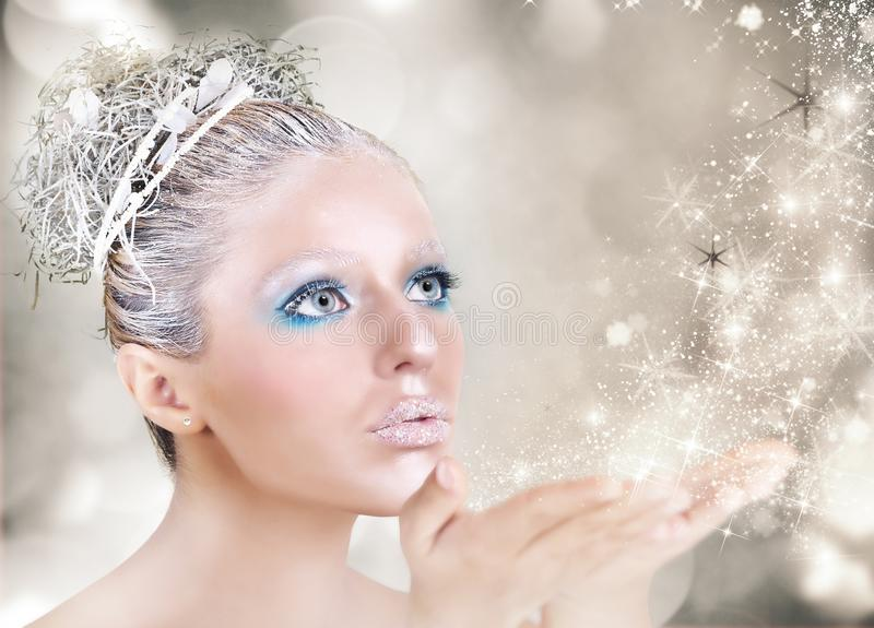 Xmas makeup royalty free stock images