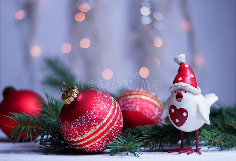 Xmas and New Year`s greetings with the symbol 2017 stock photo