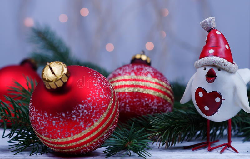 Xmas and New Year`s greetings with the symbol 2017 royalty free stock image