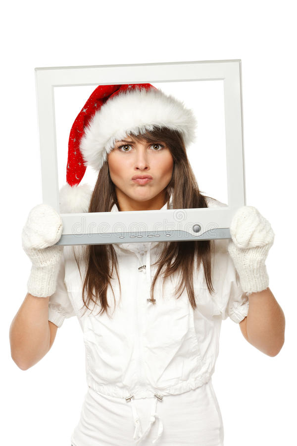 Download Xmas news stock photo. Image of grumpy, expression, attractive - 22074826