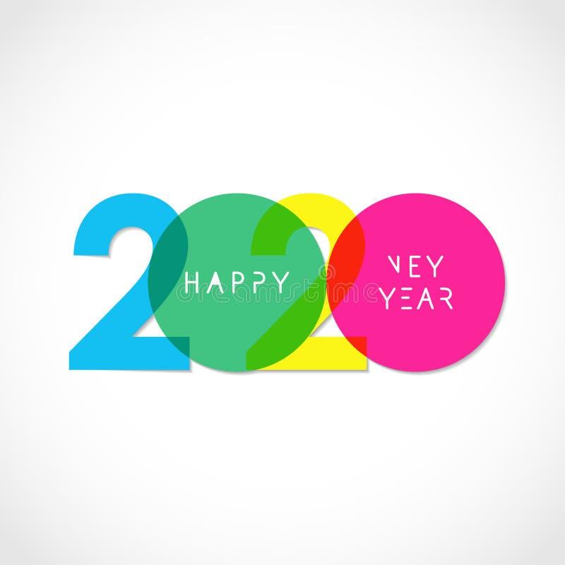 2020 decorative logo vector illustration