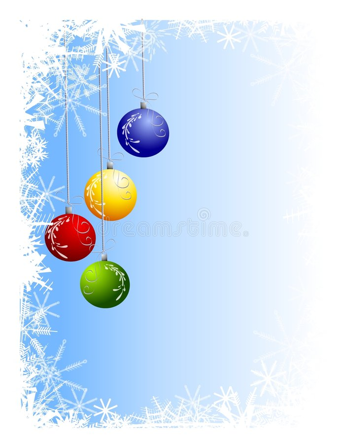 Download Xmas Ornaments Background stock illustration. Image of wintertime - 6645716