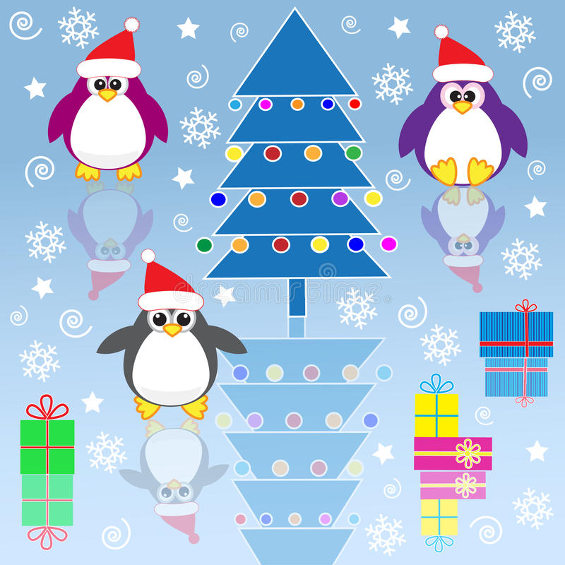 Download Xmas penguins stock vector. Image of arctic, illustration - 22129464