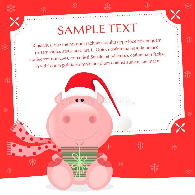 Download Xmas Pig stock vector. Illustration of cartoon, gift - 26577413
