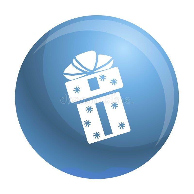 Xmas pudełka ikona, prosty styl ilustracja wektor