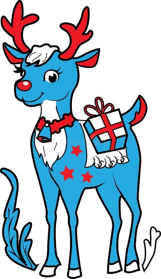 Xmas renifer Rudolf ilustracji