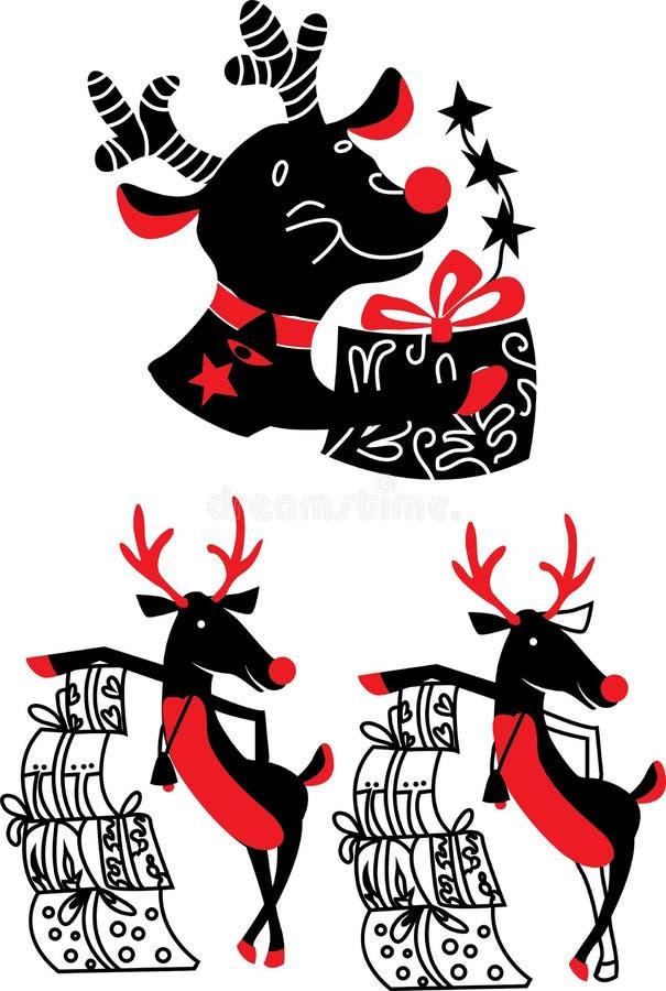 Xmas renifer Rudolf royalty ilustracja