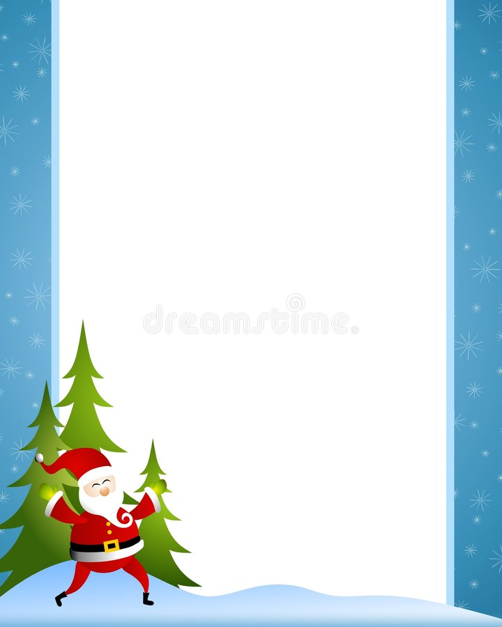Xmas Santa Claus Border vector illustration