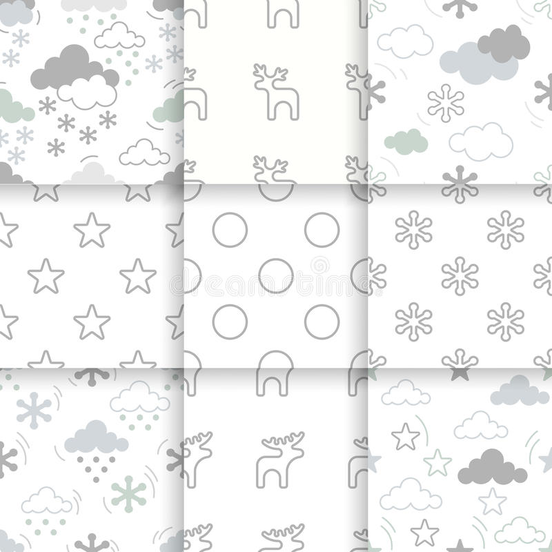 Xmas scandy pattern stock illustration