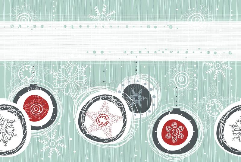 Xmas seamless banner. Seamless Christmas background with banner royalty free illustration