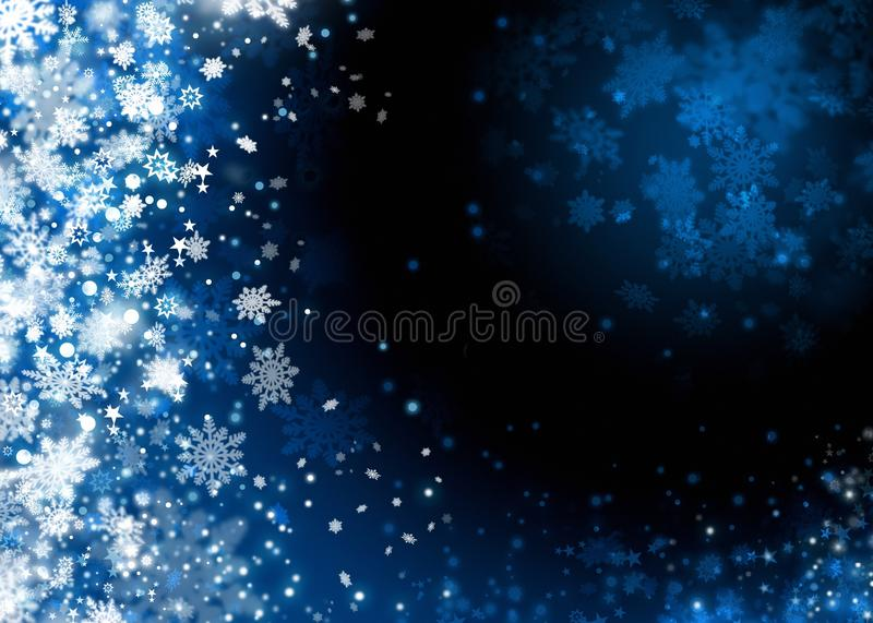 Xmas snow abstract background stock photos
