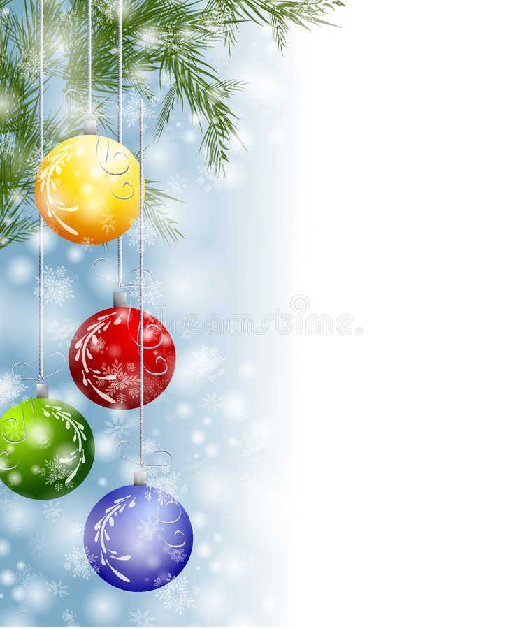Download Xmas Snow Ornaments Border stock illustration. Image of festive - 7049700