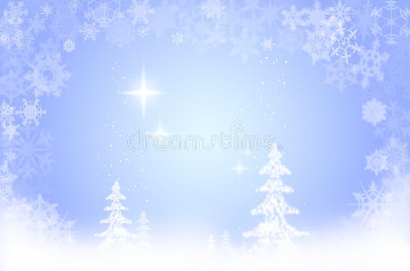 Xmas snow scene royalty free illustration