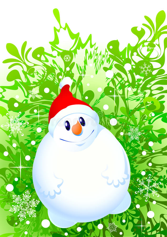 Xmas Snowman Stock Images