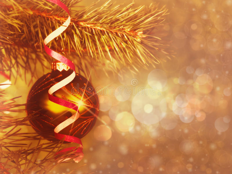 Download Xmas still-life stock photo. Image of bulb, decor, gold - 27765372