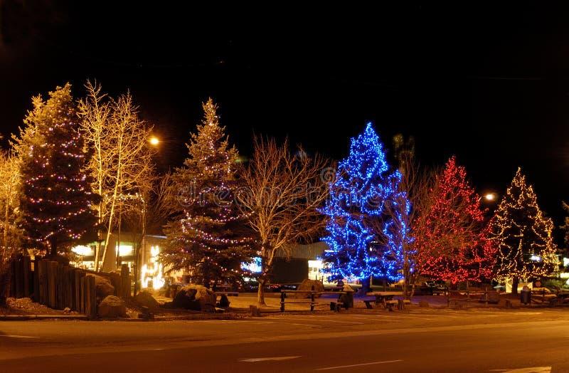Download Xmas time stock photo. Image of winter, light, tree, night - 15893684