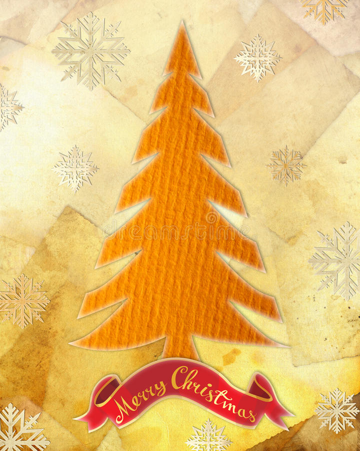 Download Xmas tree stock illustration. Image of paper, antique - 17334013
