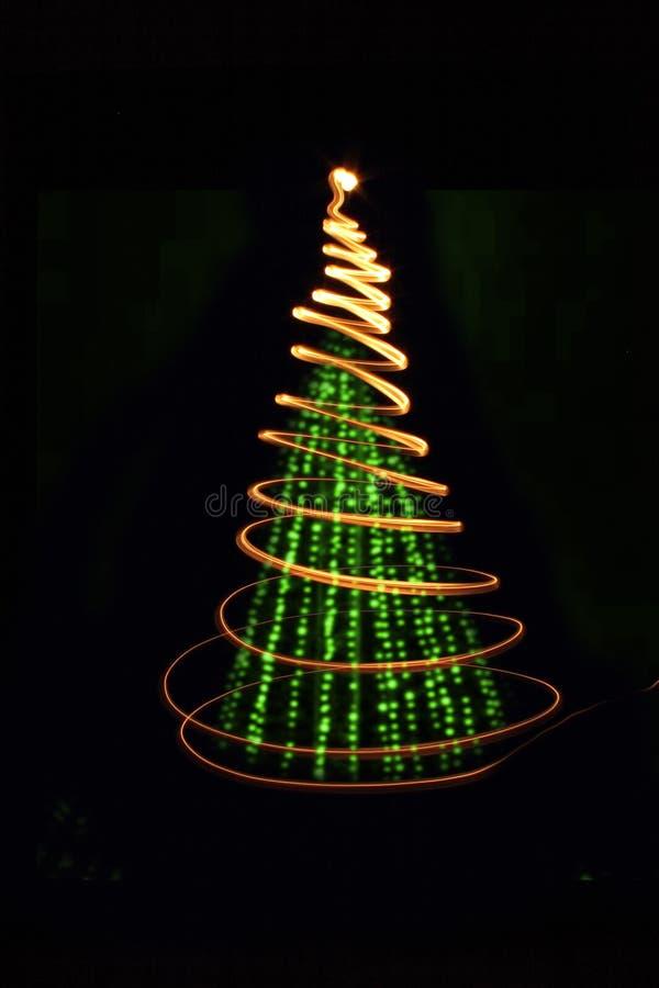 Xmas tree. (lights) on the black background royalty free stock photo