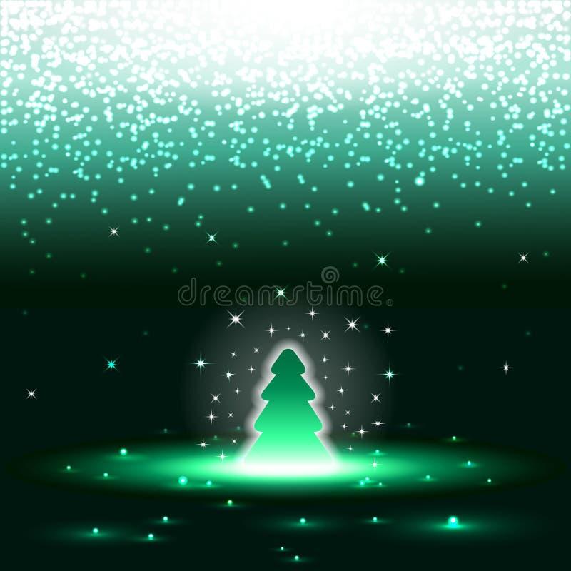 Xmas-tree med sparkles vektor illustrationer