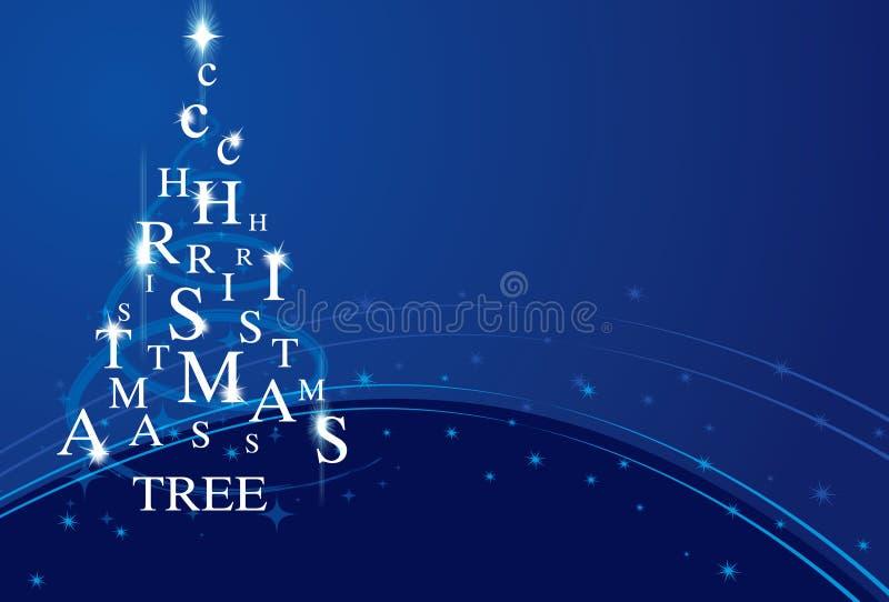 Xmas-tree på blue royaltyfria bilder