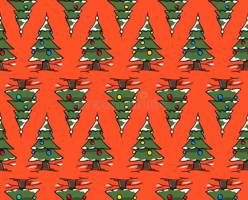 Xmas trees forest vector illustration
