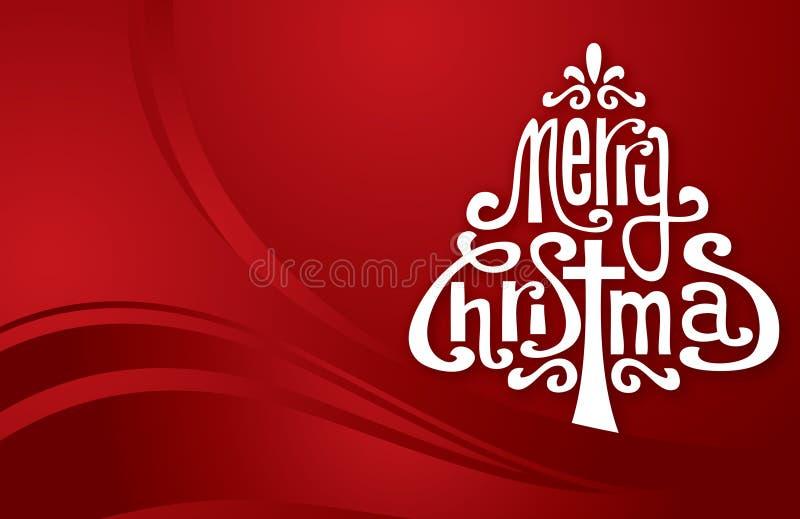 Download Xmas typography tree stock illustration. Image of christmas - 27818466