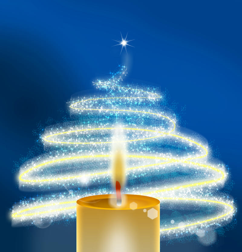 Xmass Blue - Christmas Background stock photo