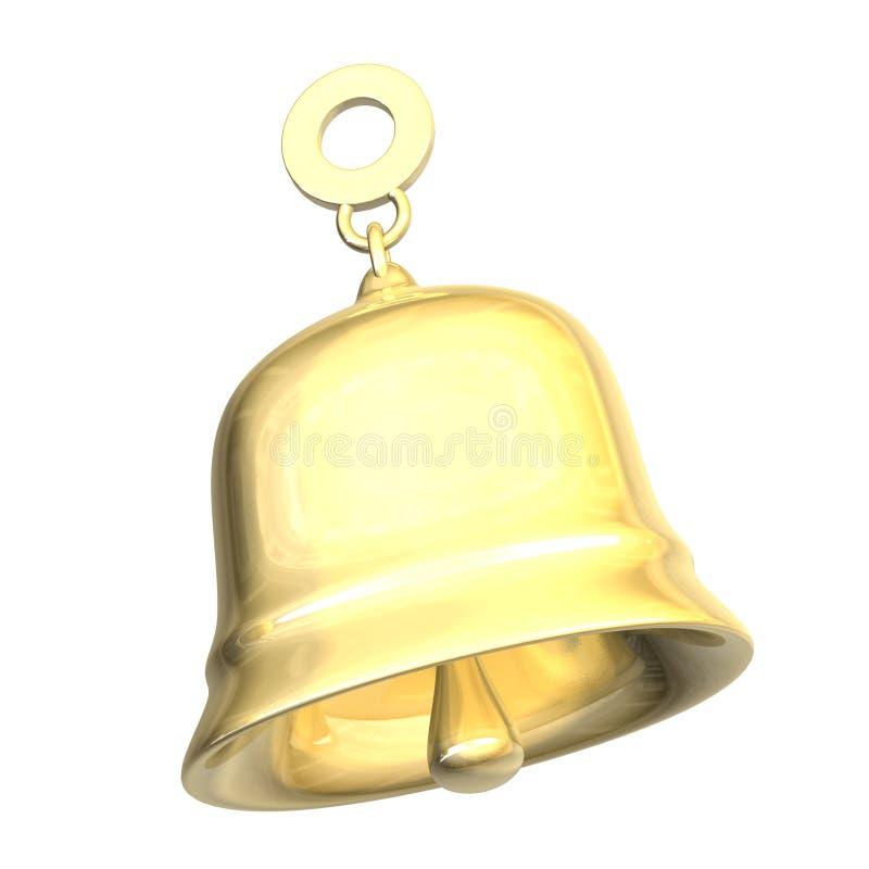 Xmass d'isolement de cloche d'or (3D) illustration de vecteur