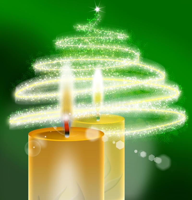 Xmass Green - Christmas Background royalty free stock image