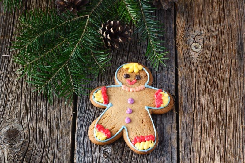 Xmass idea, gingerbread man stock photography