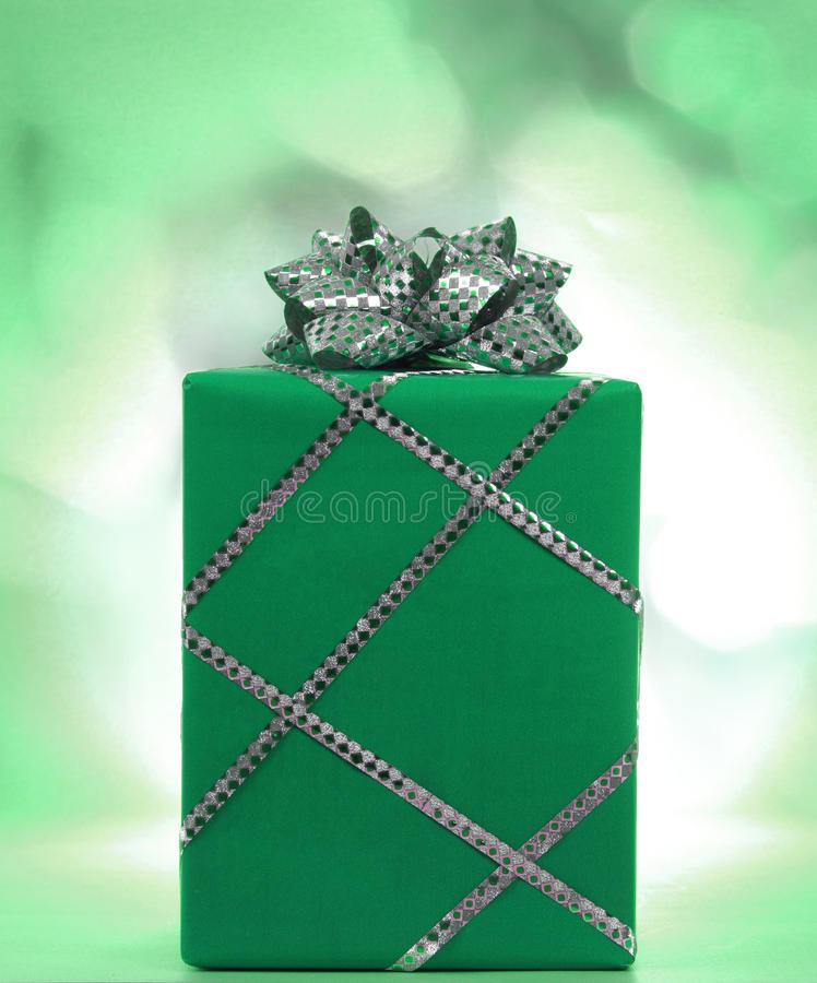 Download Xmax gift stock photo. Image of gift, xmas, silver, green - 26372792