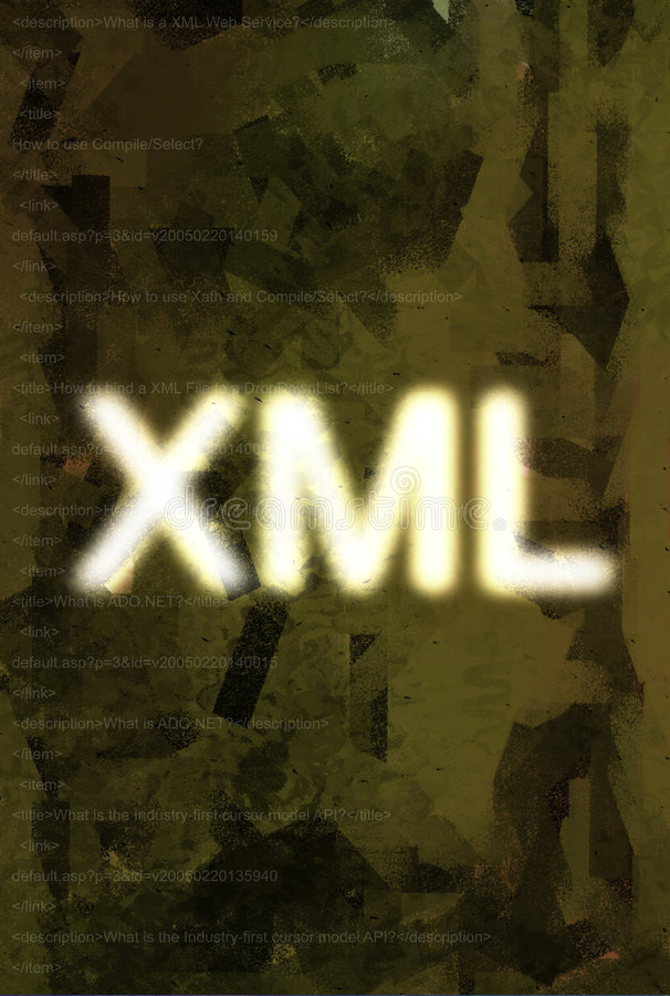 xml royaltyfri illustrationer
