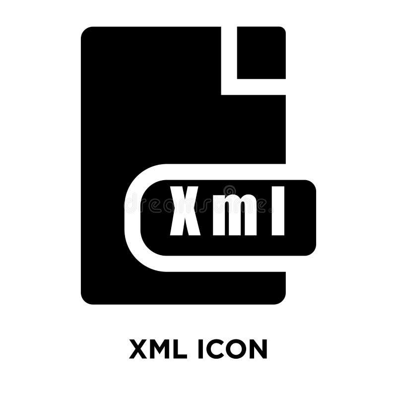 Xml symbolsvektor som isoleras på vit bakgrund, logobegrepp av Xm royaltyfri illustrationer