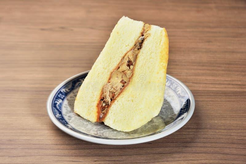 XO调味汁咸蛋糕 免版税库存照片