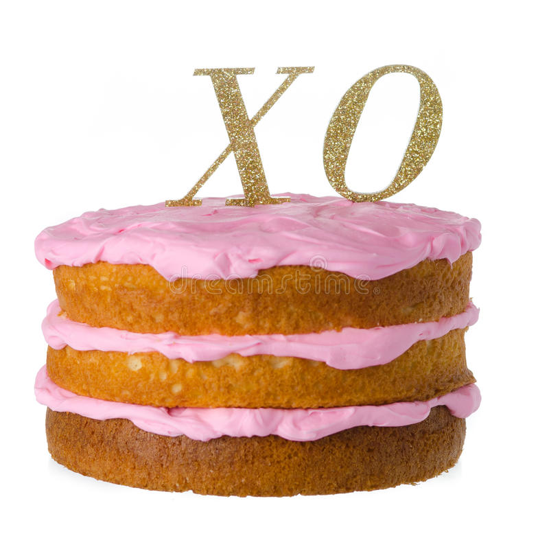 XO Cake sign stock images