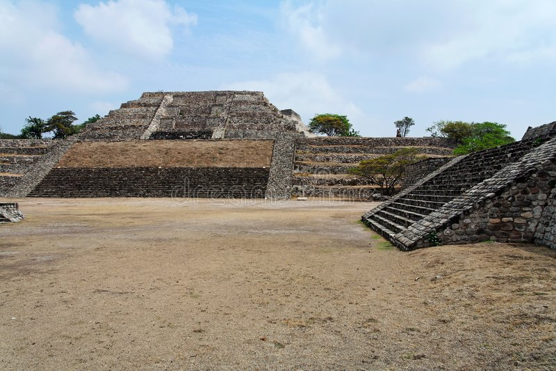 Xochicalco lizenzfreies stockfoto