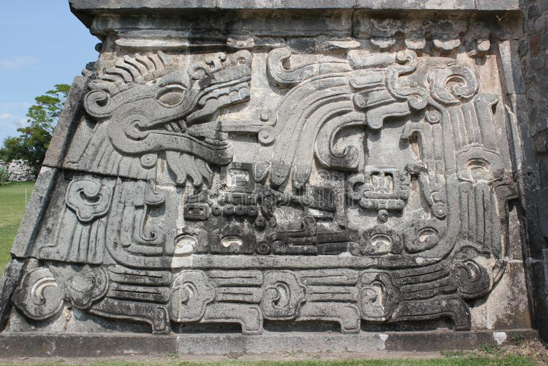 Xochicalco das ein Quetzalcoatl stockfoto